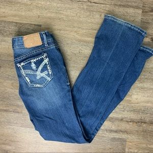 Amethyst Boot Cut Distressed Jeans